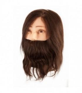 Eurostil Maniquí de cabello natural con barba 02169