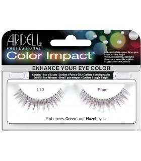 Pestañas Ardell profesional Color Impact 110 Plum + pegamento