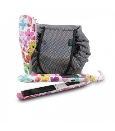 LIMHAIR PC 5.0 PACK W'21 plancha PC 5.0 + Bolsa + cepillo FLORES